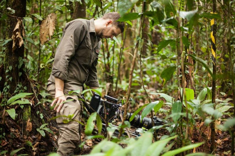 Alexander Sommer and his RED in the Amazon rainforest