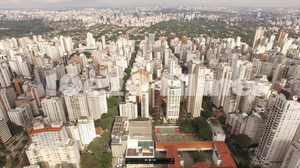 Foto Aérea com Drone do bairro dos Jardins, SP